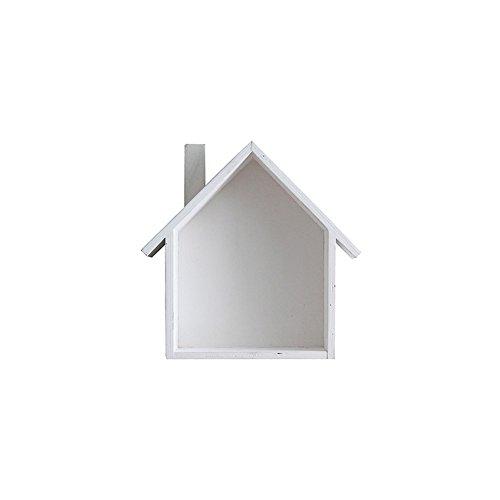 Sweet Home Design White Wood Wall Mounted 4 Hook Storage Shelf Rack - 2