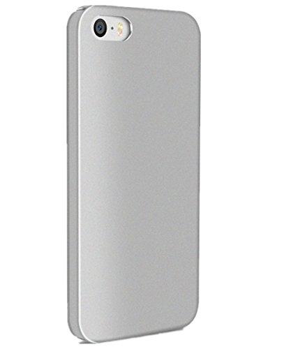 Funda iPhone SE / 5S / 5, [SLIM] ajuste en el mango Cubierta Carcasa pulgadas 360° Case ultra-delgado superior de revestimiento duro para Apple iPhone SE 2016/ 5S 2013/ 5 2012 Plata