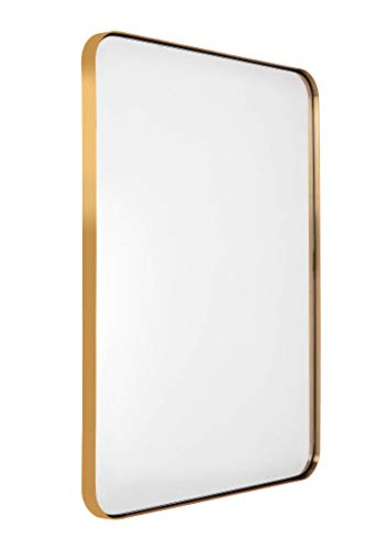 Contemporary Panel - Bathroom Mirror For Wall, Wall Mirror Gold Brass for Decor 22