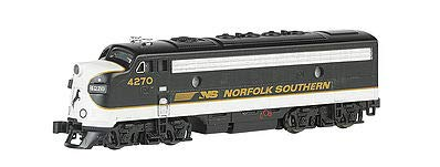 - Bachmann Industries EMD F7-A Diesel Locomotive DCC Equipped Norfolk Southern Train Car, Black/Gray, N Scale