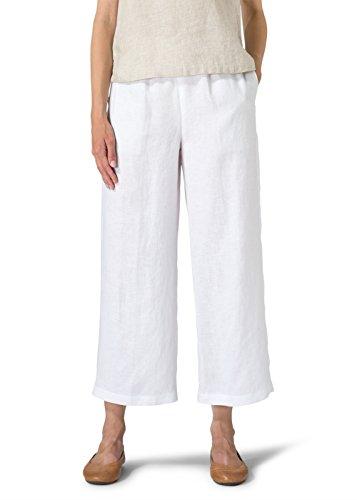 Linen Crop Capri Pants - 1