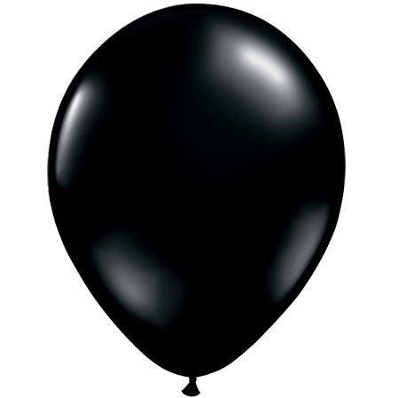 Qualatex 24 Round Balloons, Onyx Black Jewel - Pack of 5 by Qualatex