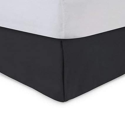 Black Bed Skirt King Size.Most Popular 600 Tc Solid Pattern Bed Skirt King Size Black Color Drop Length 8 Inch Hotel Quality Egyptian Cotton Pleated Tailored Split