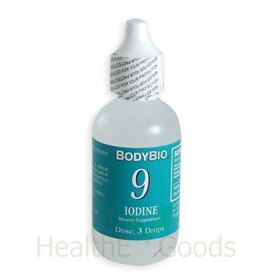 Mineral Liquid BodyBio iode # 9-2 floz