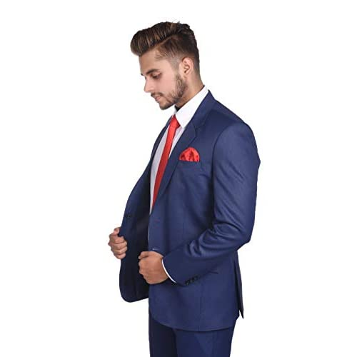 312ackgjwlL. SS500  - White Bow Men's Slim Fit Formal Two Piece Suit