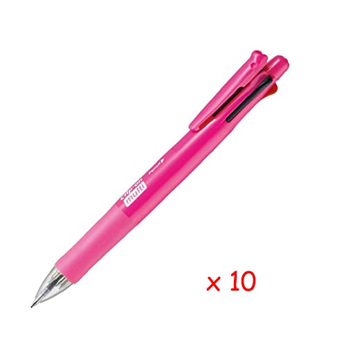 Zebra B4SA1 Clip-on multi F 0.7mm Multifunctional Pen (10pcs) - Pink (with Free 5-Color Sticky Notes)