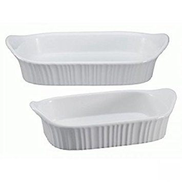 1115855 CorningWare French White III 2 piece Set -