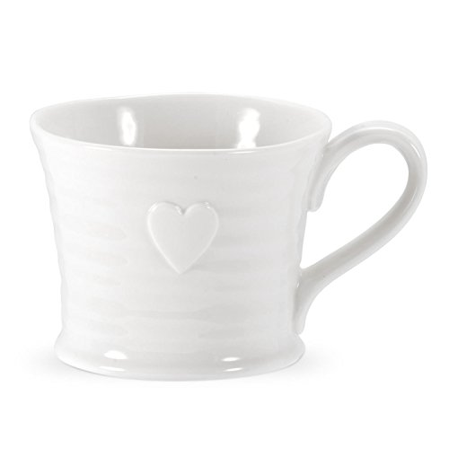 Sophie Conran - White - Embossed Heart Mug - Set Of 4