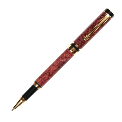 Classic Rollerball Pen - 24kt Gold - Red Maple (Maple Classic Pen)