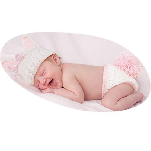 6837278e5f99e Yokumo Baby Photography Props Rabbit Costume Pink Bunny Newborn Outfits Hat  Pants Photo Shoot Clothes