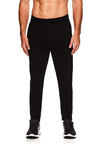 HEAD Men's Activewear Pants-Performance Workout & Running Sweatpants, Ultra Black, Medium