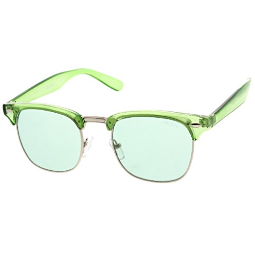 zeroUV - Vintage Inspired Classic Horn Rimmed Nerd Horn Rimmed UV400 Clear Lens Glasses (Colored | - Ray Bans Colored