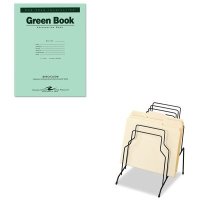 KITFEL72614ROA77509 - Value Kit - Roaring Spring Green Books Exam Books (ROA77509) and Fellowes Step File (FEL72614)