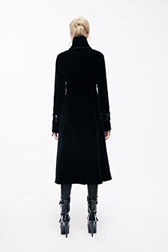 Style Femmes Hiver Manteaux Col Survêtement Pour Nylon Dames Vestes Long Gothique Noir Rivet Rétro Steampunk Automne Avec Haut Classique T0Exvq
