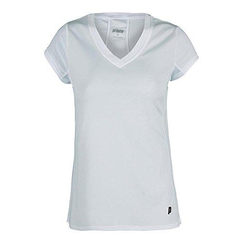 Prince KS7633WH-B Women`s Core V-Neck Cap Sleeve Tennis T...