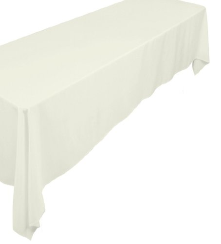 A1 Polyester (A-1 Tablecloth Company Rectangular 72-Inch by 120-Inch Poly Table Cloth, Ivory (Case of 10))