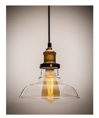 Pendant Lighting Bronze Glass in US - 9