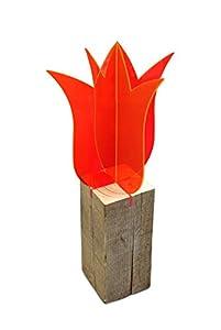 Lichtzauber 2 x 3D-Tulpe, 20 cm, stehend, rot