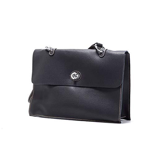Pour Cm À Capacité 24 Largeur 33 Hauteur Sac 5 Femme 5 Bandoulière Vintage 10 longueur Grande Noir Ethba cIfpO