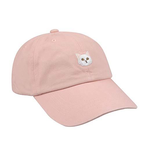 Hatphile 6 Panel Dad Hat Baseball Cap (Large, Persian Cat Pink)