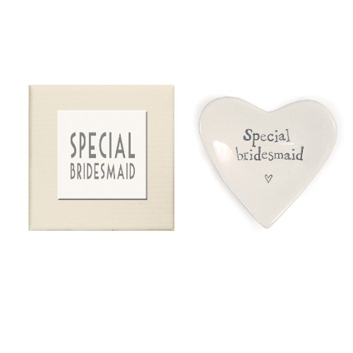 East Of India Special Bridesmaid Heart Decorative Dish In Gift Box Porcelain