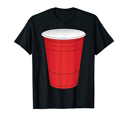 Red Beer Pong Cup Costume T-Shirt Fun Party Game ()