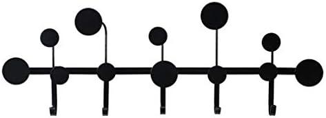 コートハンガー 壁掛け式 金属材料 ハンガーラック 帽子掛け シンプルなファッション 黒い色(5フック)