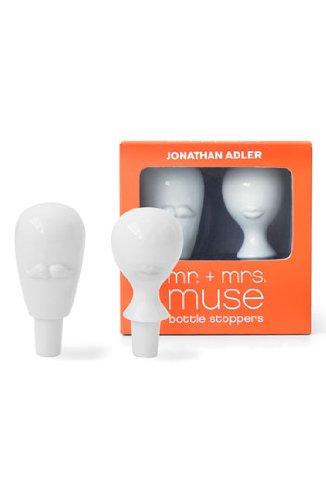 Jonathan Adler Mr & Mrs Muse Bottle Stopper Set, (Adler Pottery)