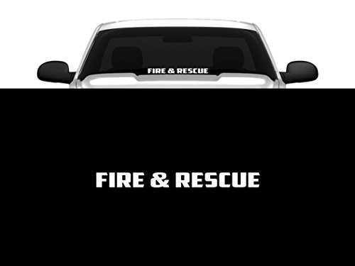 - Fire & Rescue Windshield/Window Decal Banner 23