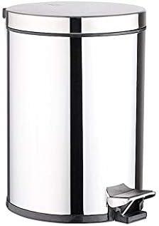 滑らかな表面 プラスチック製インナーバケットペダルゴミ箱ステンレス製ゴミ箱缶、缶屋内キッチンベッドルームバスルームごみ箱を有する蓋 リサイクル可能なデザイン (Color : A1, Size : 12L)