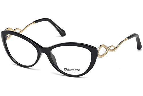 Roberto Cavalli Glasses - Eyeglasses Roberto Cavalli 5009 Black Cat-eye