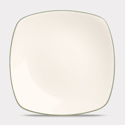 Green Plates Square Charger - Noritake Colorwave Green 8 1/4-InchSquare Salad/Dessert Plate, 8-1/2-inch
