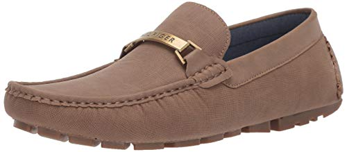 Tommy Hilfiger Men's Aaron Driving Style Loafer, Taupe, 11.5 Medium US (Loafer Tommy Hilfiger Men)