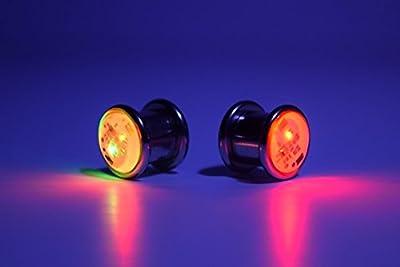 "Single Multi-color LED Light up Ear Gauge Plug Tunnel (Size: 10mm - 3/8""- 00g)"