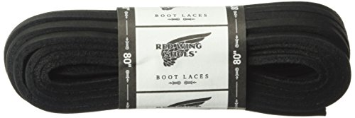 Red Wing Heritage 80-inch Leather Lace Shoelaces, Black, 80 inch (Shoe Leather Lace)