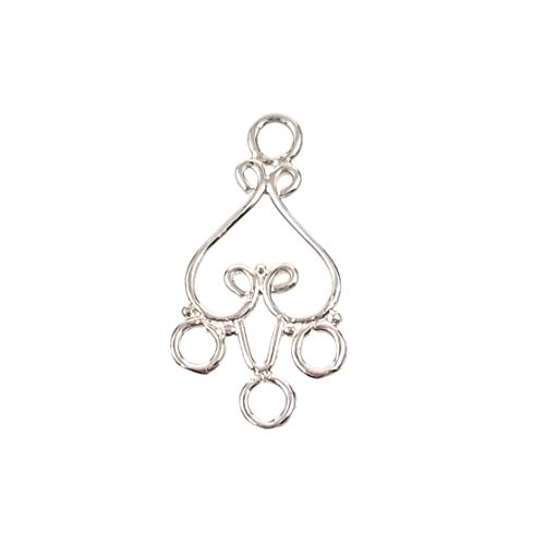 Sterling Silver 925 Chandelier Earring Connector Links Findings for Jewelry Making (B) (Sterling Silver Focal Pendant)
