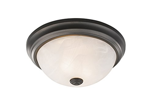 (Z-Lite 4001F13-AL-BRZ Athena 2 Light Flush Mount)