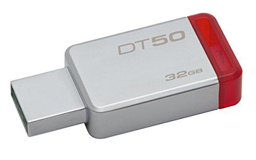 - Kingston Digital 32GB USB 3.0 Data Traveler 50, 110MB/s Read, 15MB/s Write (DT50/32GB)