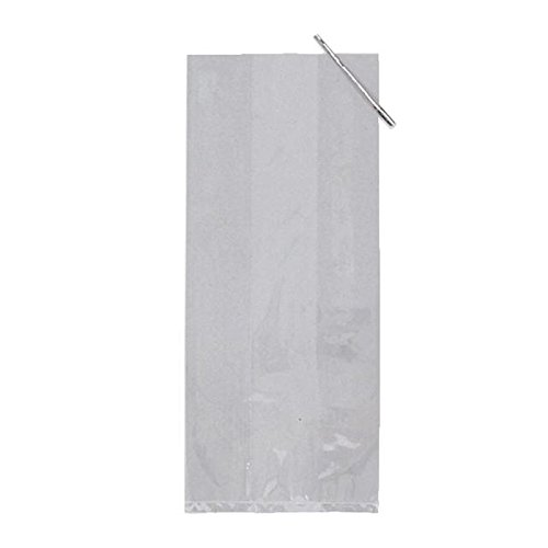 Creative Party Cellophane Basket Bags, Clear 6 per pack