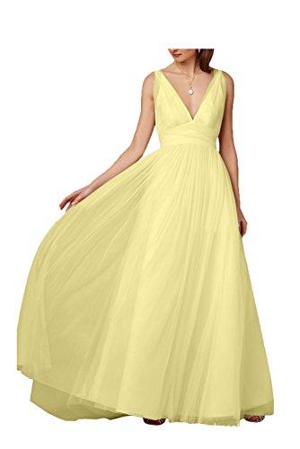 Missdressy trapecio Amarillo mujer Vestido para FXw4Zq