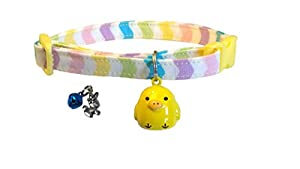 Cat Collar With Two Sets Of Charms Chick Bell Charm And Easter Bunny With Bell Breakaway For Safety
