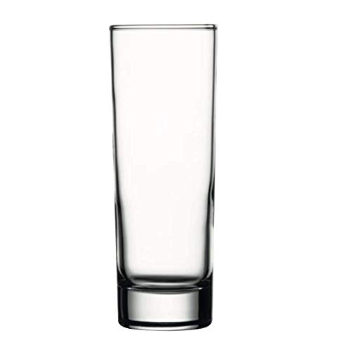 Pasabahce Side Hiball Water Glass Set, 215ml  Pack of 6