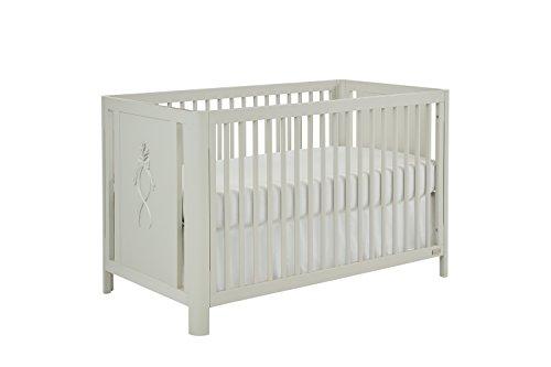 (Bassett Baby & Kids Elle 3-in-1 Crib, Grey)