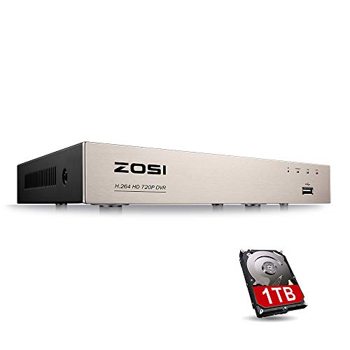 4 Channel Digital Video Recorder - ZOSI 1080N/720P 8 channels 4-in-1 DVR HD TVI CCTV DVR Security System Network Motion Detection H.264 8CH Digital Video Recorder 1TB Hard Drive For 720P,1080P Security Camera System