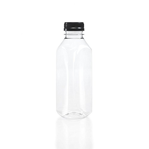 - Clear Food Grade Plastic Juice Bottles 16 Oz (Pint) with Cap 40/Pack