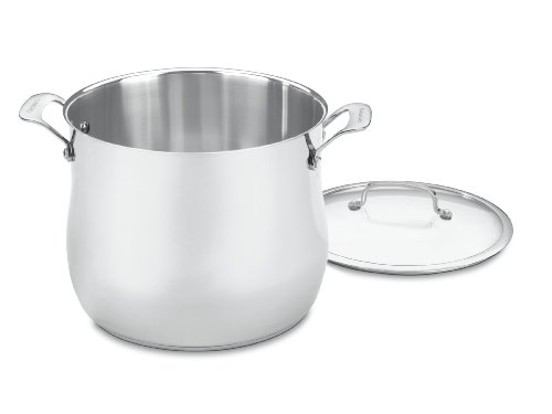 Cuisinart 466-26 Contour Stainless 12-Quart Stockpot with Gl