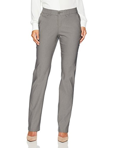 LEE Women's Petite Motion Series Eden Career Straight Leg Pant, Green Gray,...