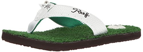 Mens Golf Sandal - Reef Men's Mulligan II Flip-Flop, Green, 12 M US