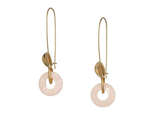 - Robert Lee Morris Soho Women's Rose Quartz Ring Long Drop Earrings, One Size