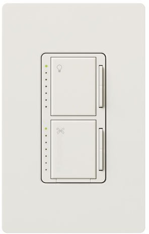 Lutron MA-LFQHW-WH White Fan Control & Dimmer by Lutron Electronics Co.